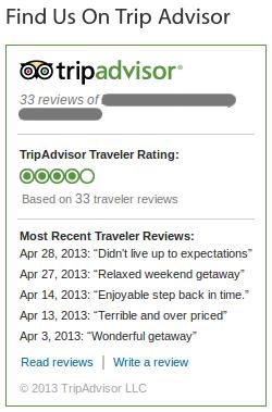 TripAdvisor widget
