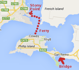Passenger ferry service from Stony Point to Cowes
