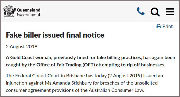Amanda Stichbury final notice - Office of Fair Trading Queensland